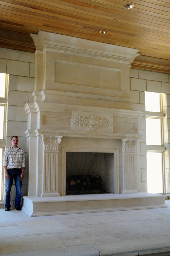 shows reference to fireplace height