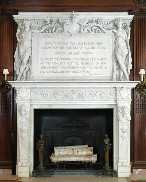 Library Fireplace Historic Fireplace