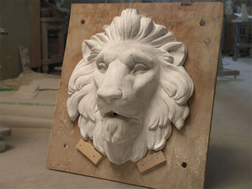limestone lion sculpture hand carved