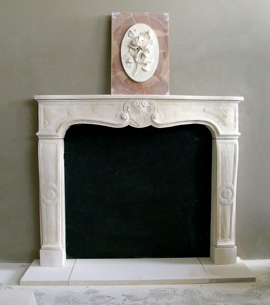 texas cream limestone fireplace mantel