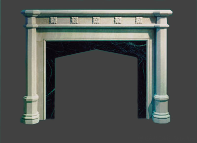 New Gothic fireplace design