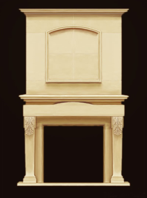 overmantle fireplace design