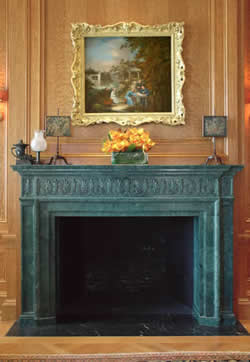 verde marble fireplace mantel main image