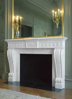 daisy chain fireplace mantel with mirror