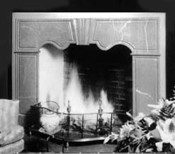 red fireplace design black and white