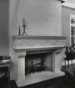 architectural fireplace mantel