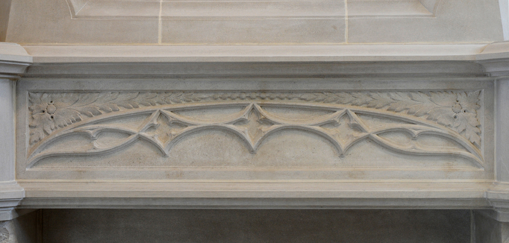 fireplace limestone gothic design