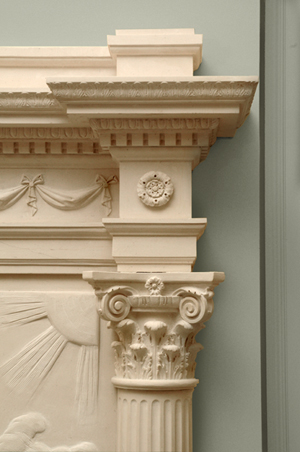 phaeton fireplace cornice and capital