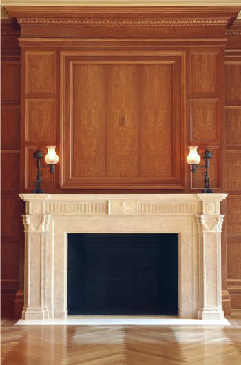 chiampo marble fireplace surround