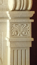 fireplace detail arts and crafts design