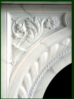 marble fireplace mantel detailed carving