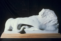 marble sculpture of bird