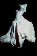 marble sculpture of figure with dress