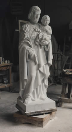 stone sculpture of saint peter