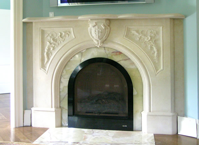 Victorian fireplace mantel design